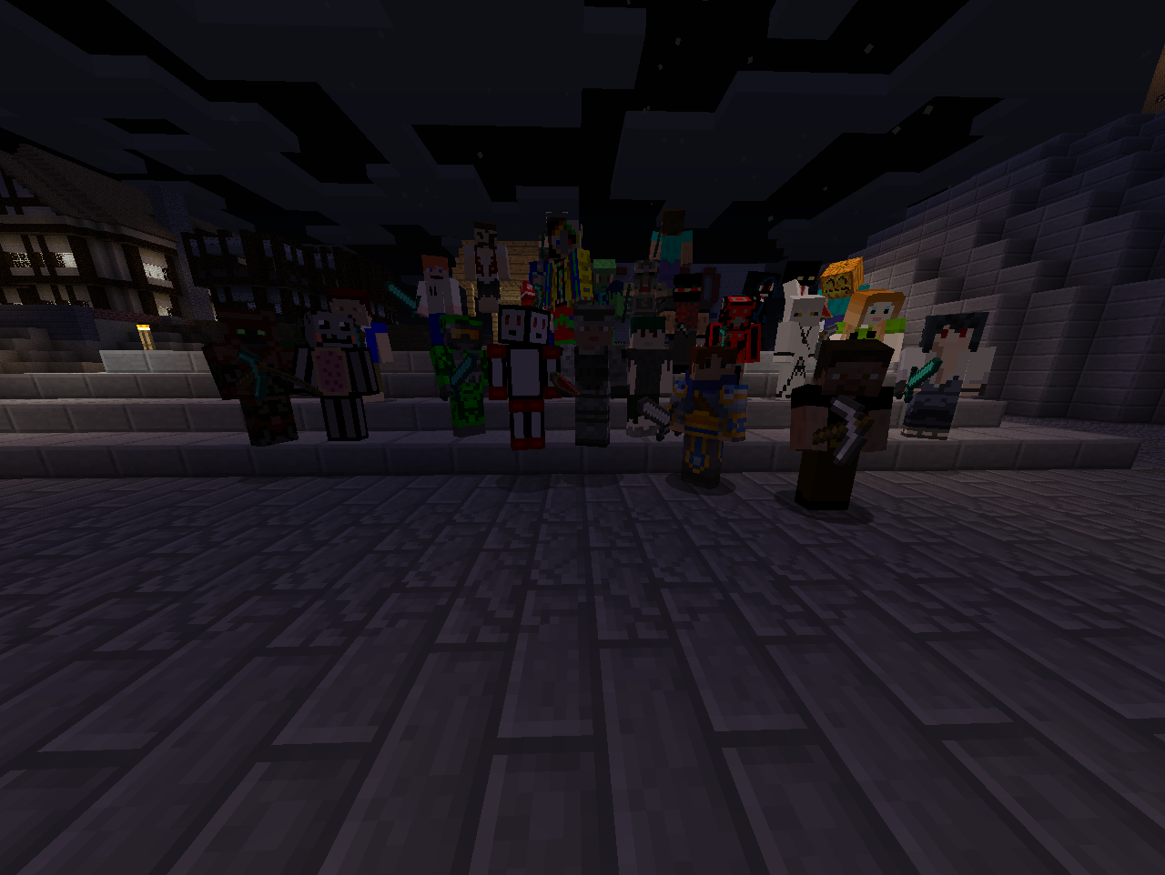 People from minecraft!