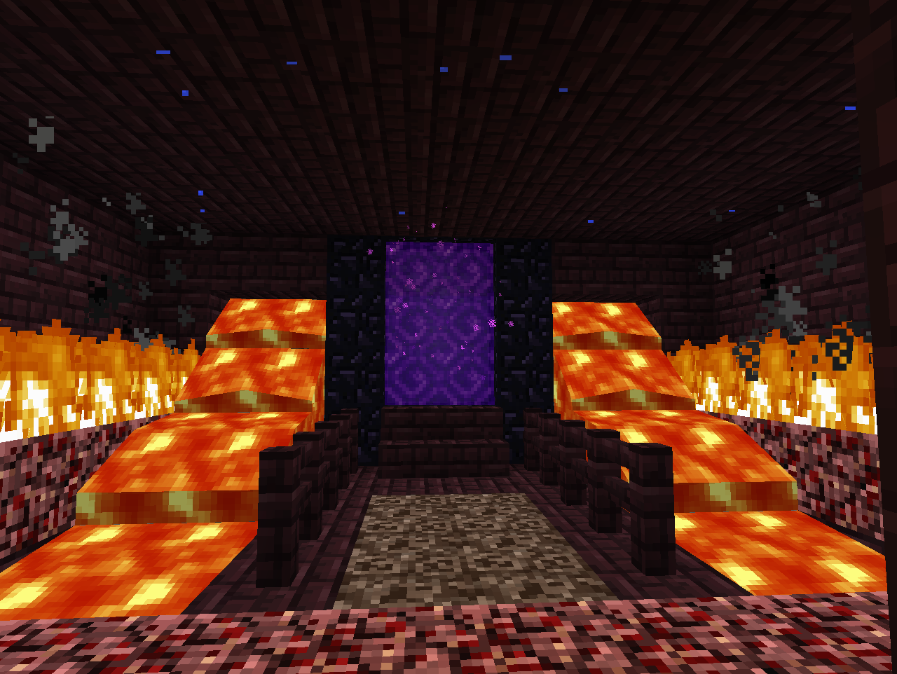 Nether portal room